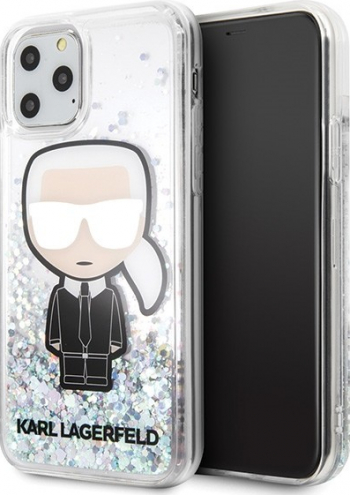 Husa Premium Originala Karl Lagerfeld iPhone 11 Pro Max colectia Glitter Ikonik -klhcn65lgirkl Huse Telefoane
