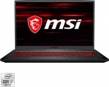 Laptop Gaming MSI GF75 Thin 10SER-606XRO Intel Core (10th Gen) i7-10750H 1TB SSD 16GB Nvidia GeForce RTX2060 6GB FullHD 144Hz T.il. Black Laptop laptopuri