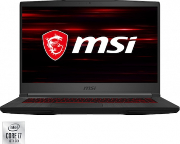 Laptop Gaming MSI GF65 Thin 10SER-1232XRO Intel Core (10th Gen) i7-10750H 512GB SSD 8GB RTX2060 6GB FullHD 144Hz Tast. ilum. Black Laptop laptopuri