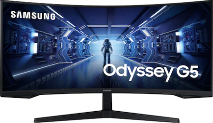 Monitor Gaming Curbat LED 34 Samsung Odyssey G5 LC34G55TWWRXEN WQHD 1ms 165Hz FreeSync