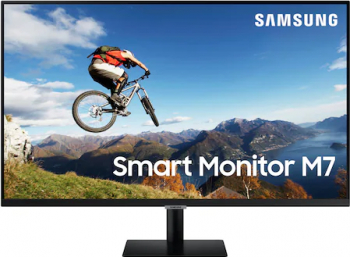 Monitor LED 32 Samsung LS32AM700URXEN 4K UltraHD FreeSync Negru