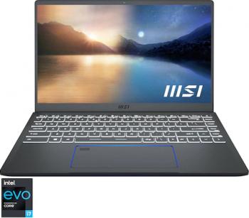 Ultrabook MSI Prestige 14 EVO Intel Core (11th Gen) i7-1185G7 1TB SSD 16GB Intel Iris XE FullHD FPR T. Ilum. Carbon Grey