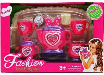 Set de joaca ceai Dichis roz 11 piese Jucarii