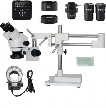 3.5X 7X 45x 90X Dublu Boom Stand Zoom Simul Focal trinocular stereo PCB de reparare Microscop + 34MP Aparat foto Microscop industriale