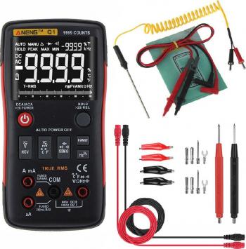 ANENG Q1 9999 contilor Adevarat RMS Multimetru digital AC DC tensiune Rezistenta curent Capacitatii temperatura Tester Auto / Manual