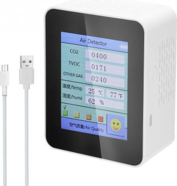 Calitatea aerului de uz casnic Tester detector de CO2 cu dioxid de carbon TCOV Valoare Cantitatea de energie electrica Temperatura