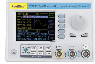 FY6200 Embedded semnal Panoul Generator DDS dual-canal Generator de functii 30MHz / 40MHz / 50MHz / 60MHz Generator de frecventa