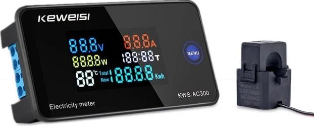 KEWEISI AC 50 300V 10A / 100A Digital electric Meter Voltmetru ampermetru cu CT Putere Tensiune Curent Masurarea temperaturii