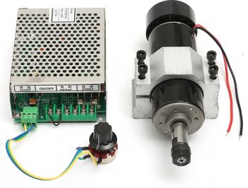 Machifit CNC 500W Arborele motor eR11 Chuck cu 52mm Gheare si Alimentare Guvernatorul Viteza