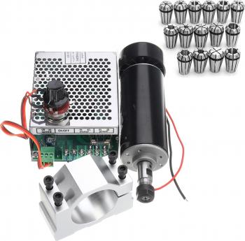 Machifit eR11 500W Motor cu ax 52mm Clema si Turatie + 15buc eR11 1-7mm Spring Collet Set