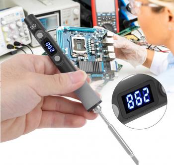 SQ-D60 60W Digital Statie de lipit de fier DC12-24V tip C Interfata 100-400 Temperatura reglabila