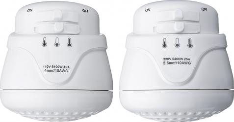 110V / 220V 5400W electric cap de dus instant de apa calda de incalzire Tankless de temperatura reglabila