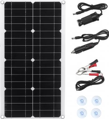 30W 5.5V Monocrystaline Panou solar Kit USB impermeabil flexibil solare incarcator controler pt RV auto barca