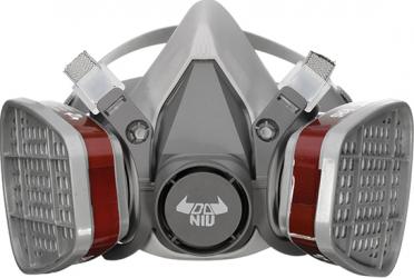 DANIU 6200 Masca de gaze Filtru dublu de protectie chimica Jumatate Face Respirator Masca Camere de Supraveghere