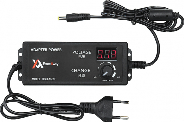 Excellway 4-24V 2.5A 60W AC / DC Adaptor reglabil de alimentare Plug UE Viteza de control Volt display