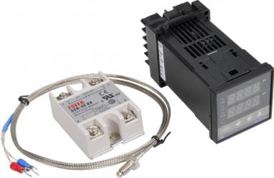 Excellway REX-C100 110-240V 1300 Grad digital PID Controler de temperatura Kit cu 400 Grad Probe