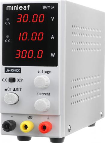 Minleaf K3010DC 4 cifre Afisaj cu LED 110 / 220V 0-30V 0-10A reglabil DC Alimentare switching reglementate Alimentare