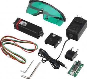 NEJE 20W Modulul laser DIY Kit 450nm profesionala continua 5.5W de taiere cu laser Gravura Modul albastru deschis cu TTL / PWM ARDUINO
