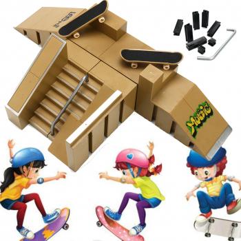 Skate Park Ramp piese cu 2 Deck grif Finger Consiliul de jucarii