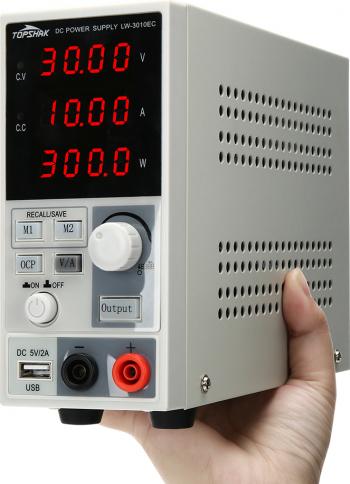 Topshak LW-3010EC 220V / 110V 0-30V 0-10A 300W programabile DC Alimentare cu LED-uri Digital Display ajustabile Alimentare