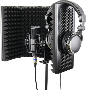 57 5 x 28cm pliabil reglabil studio de inregistrare Microfon Izolatorul de sunet Absorbirea Spuma Panou Mic Izolarea Shield Stand Mount