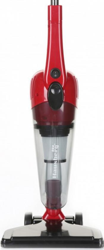 Aspirator Vertical Fara Sac Hausberg HB-2025RS 600 W Capacitate 0.5L Rosu