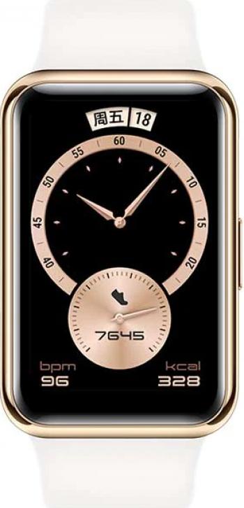 Smartwatch Huawei Watch Fit Elegant 1.64inch Frosty White