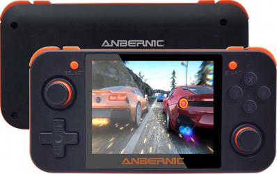 ANBERNIC RG350 3.5 inch ecran IPS 64bit 16GB 2500+ Jocuri Hanldheld video consola de jocuri retro Player pt PS1 GBA FC MD