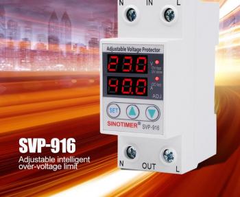 SINOTIMER SVP-916 230V 40A / 63A reglabil Auto-recuperare Sub / Peste tensiune Protector Releu intrerupator dispozitiv de protectie