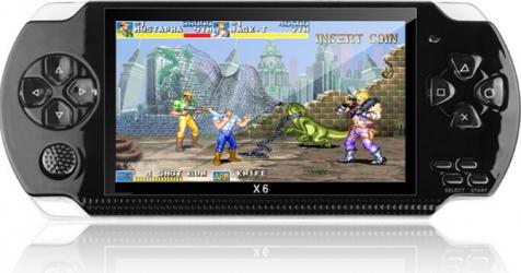 X6 8GB 128-biti 10000+ Jocuri PSP 4 3 inch de inalta definitie Retro Handheld joc video consola de jocuri player