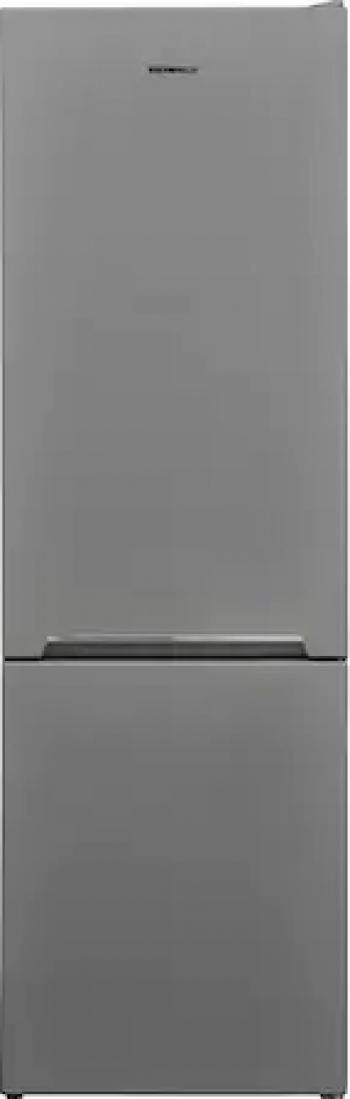 Combina frigorifica Heinner HC-V268SF+ 268 L Clasa F Iluminare LED Control mecanic Termostat ajustabil Argintiu Frigidere Combine Frigorifice