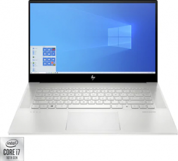Laptop HP ENVY 15-EP0007NQ Intel Core (10th Gen) i7-10750H 1TB SSD 32GB Geforce GTX 1650Ti 4GB FullHD Win10 FPR T.ilum. Natural Silver Laptop laptopuri