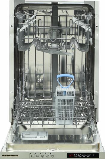Masina de spalat vase incorporabila Heinner HDW-BI4505IE++ 10 seturi 5 programe Clasa A++ Display LED Aquastop 45 cm Argintiu Masini de spalat vase incorporabile