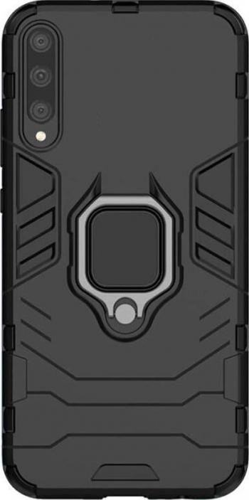 Husa compatibila cu Huawei P Smart S Ring cu inel + Magnet Brave Armor Black Huse Telefoane
