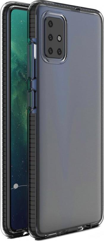 Husa de protectie Spring Case Samsung Galaxy A21s Negru/Transparent Huse Telefoane