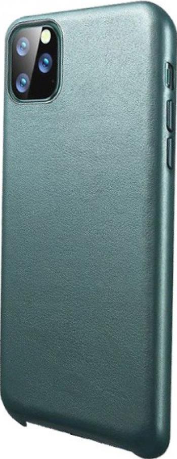 Husa Premium Upzz Eco Leather Compatibila Cu iPhone 11 Pro Max Piele Ecologica Verde Huse Telefoane