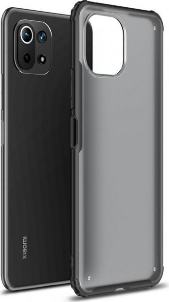 Husa Spate Upzz Hybridshell Compatibila Cu Xiaomi Mi 11 Lite / Mi 11 Lite 5g Frosted Black