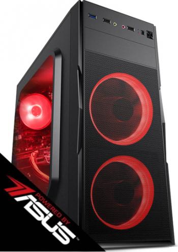 PC Gaming Diaxxa Powered by ASUS Intel i3-9100F 3.6GHz 1TB HDD+SSD 120GB 8GB DDR4 GeForce GTX 1650 4GB GDDR5 128-bit Calculatoare Desktop