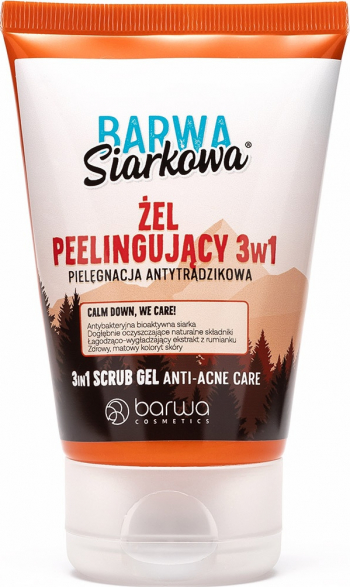 Gel exfoliant facial cu sluf 3 in 1 Barwa 120 ml Masti, exfoliant, tonice