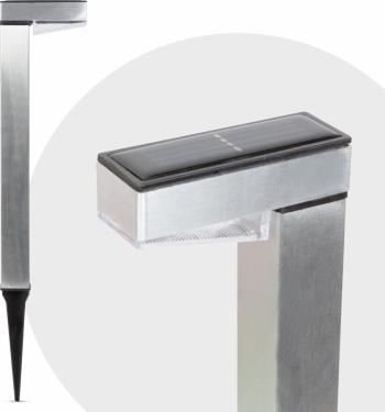 Lampa Solara LED tip Stalpisor din Metal Satinat Inaltime 42cm Corpuri de iluminat
