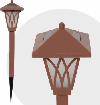 Lampa Solara LED tip Stalpisor Maro RGB Multicolor Lumina in Culori Alternante Inaltime 35cm Corpuri de iluminat