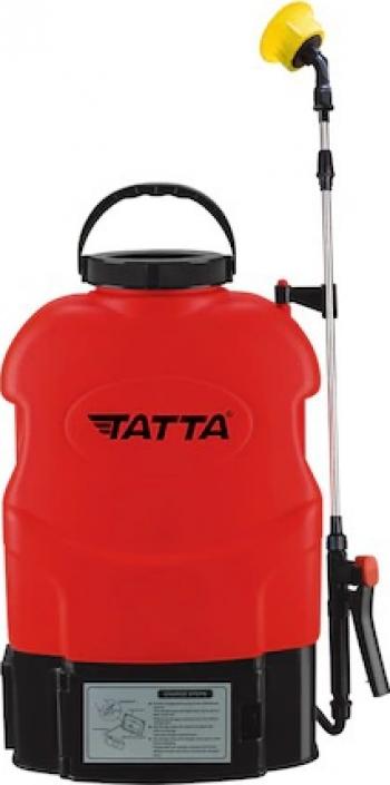 Pompa pentru stropit Tatta TP-1831A cu acumulator 12V 8Ah incarcator 1 A motor 3.6 lpm rezervor tip rucsac 16 l Atomizoare si pompe de stropit