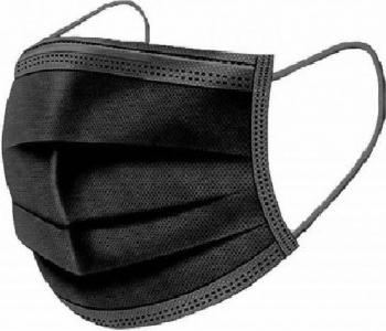 Cutie 50 masti faciale de unica folosinta 3 straturi Negru Masti chirurgicale si reutilizabile