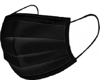 Cutie 50 masti faciale de unica folosinta 3 straturi Negru Certificate CE Masti chirurgicale si reutilizabile