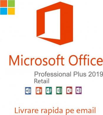Office Pro Plus 2019 Retail All lang persoane fizice si juridice permanenta ACTIVARE ONLINE