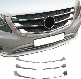 Ornamente inox grila masca fata Mercedes Vito W447 2014-2020 Huse si Accesorii