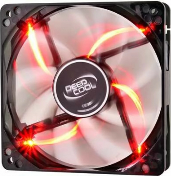 VENTILATOR DEEPCOOL PC 120x120x25 mm 4 red LED Hydro Bearing and  WIND BLADE 120 RED and Coolere laptop