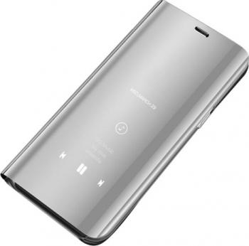 Husa protectie Clear Standing View pentru Xiaomi Redmi Note 9S / Note 9 Pro / Note 9 Pro Max Argintiu Huse Telefoane