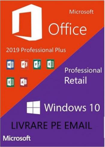 Office 2019 Pro Plus + Windows 10 Pro all languages persoane fizice si juridice