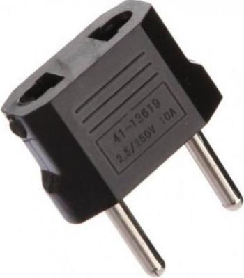 Adaptor priza America la Europa compact 250V 10A negru